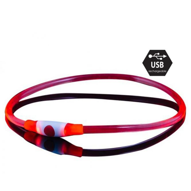 Bee Safe Dog Led Band USB Red