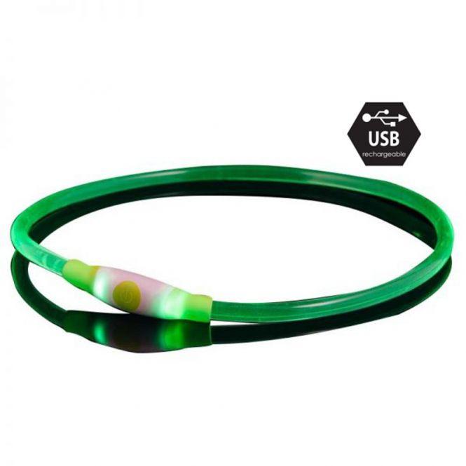 Bee Safe Dog Led Band USB Green