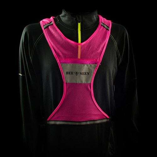 BEE SEEN Reflective Vest Roze
