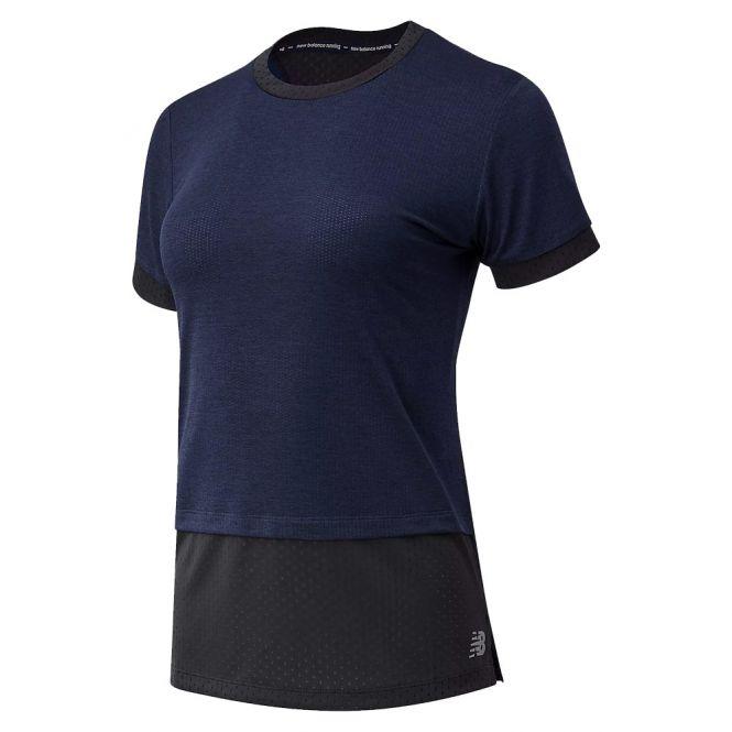 New Balance Impact Run Hybrid Short Sleeve dames