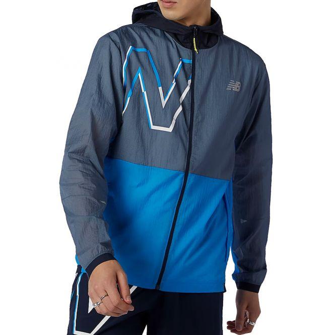 New Balance Printed Impact Run Light Pack Jacket heren