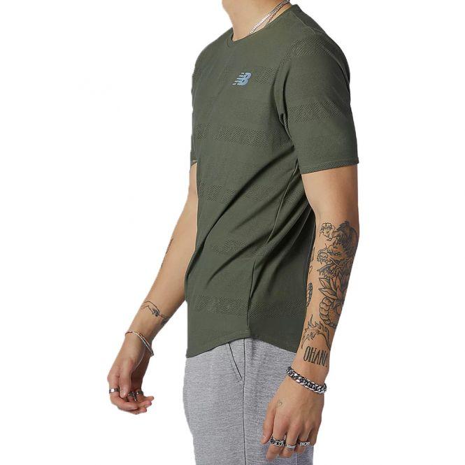 New Balance Q Speed Jacquard Short Sleeve heren