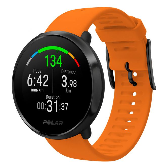 Polar Ignite BLK M/L With Orange Band