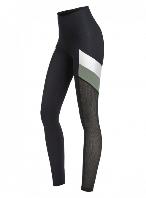 Rohnisch Uplift Block Tights Combat Green dames