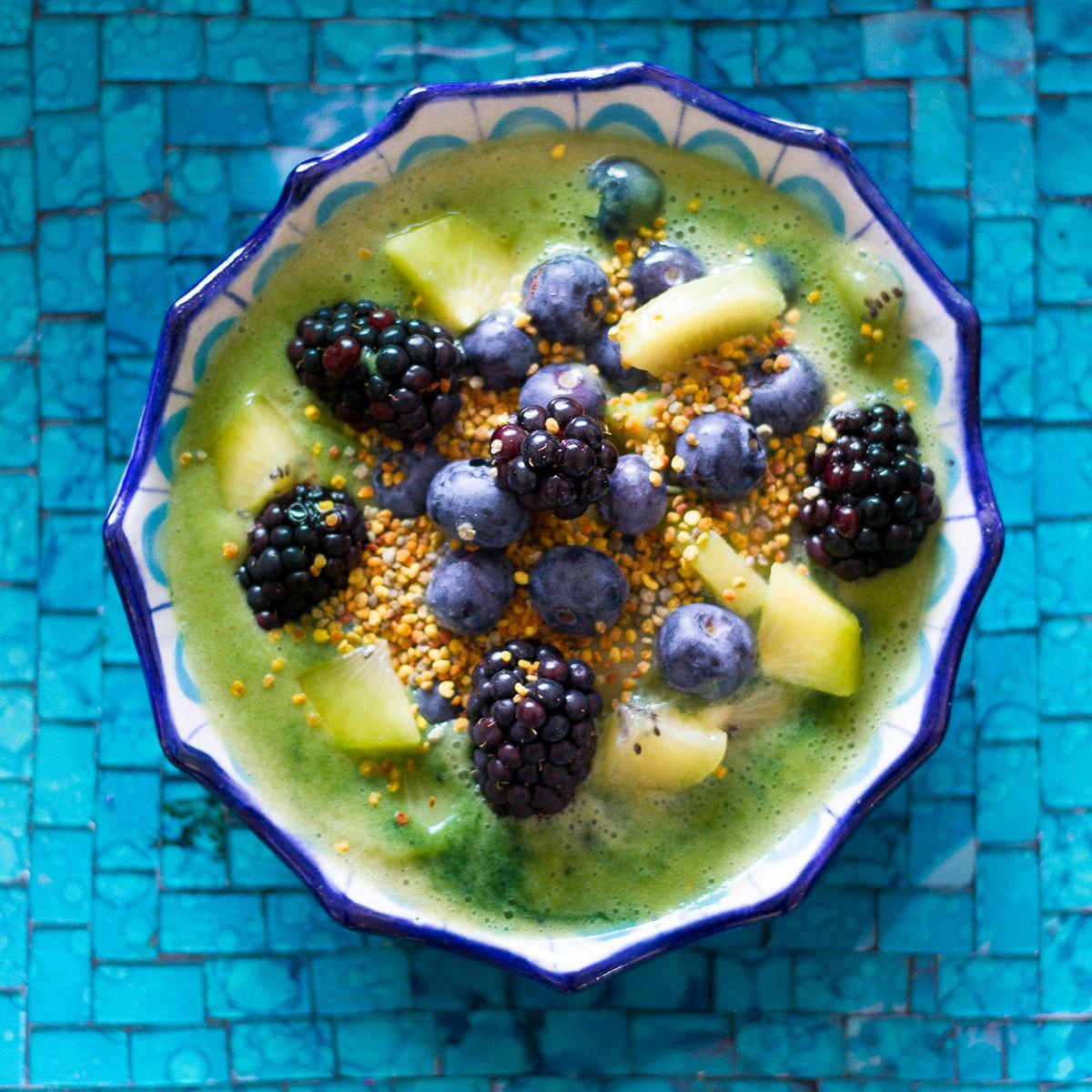 Smoothie bowl met maca en spirulina