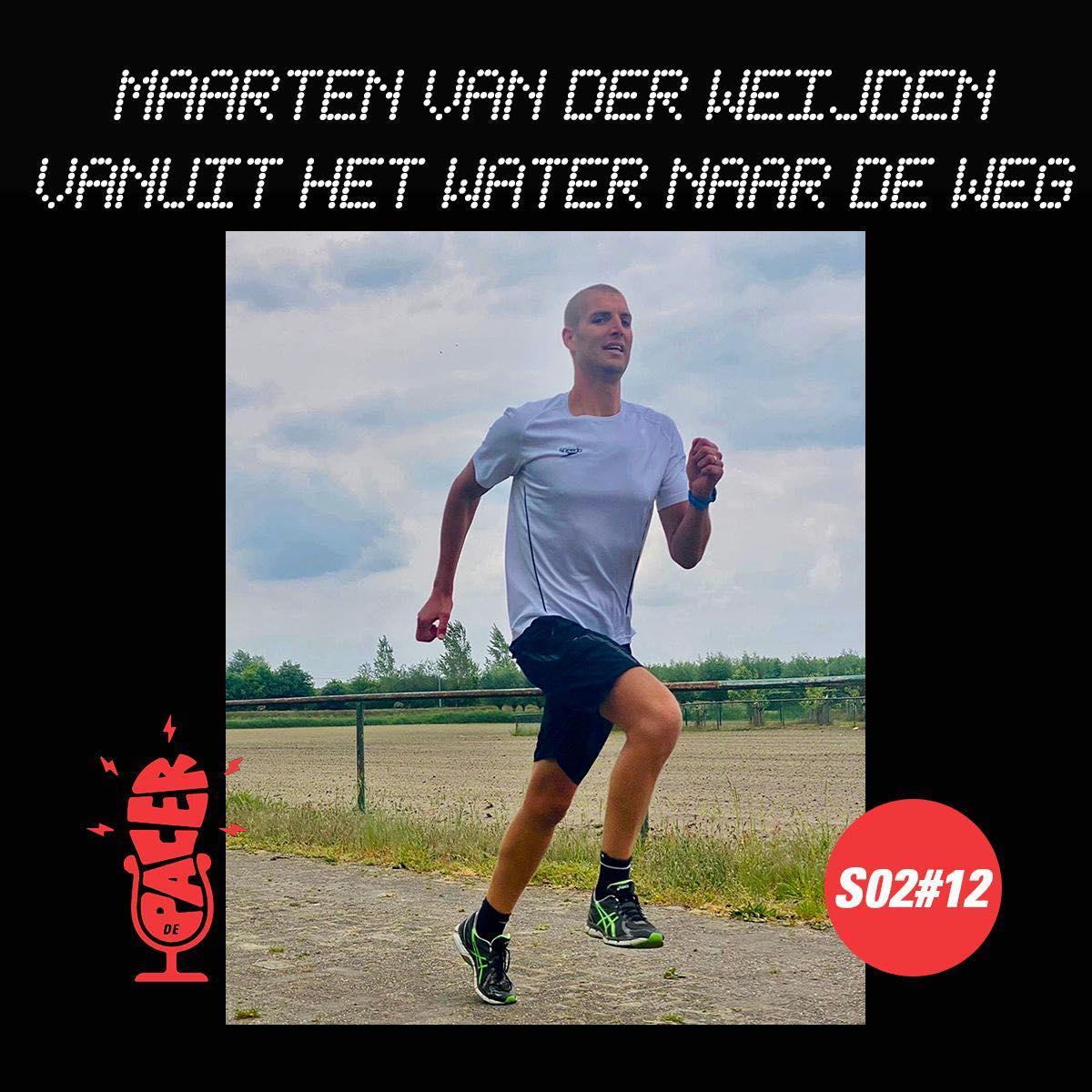Maarten van der Weijden, uit het water op de weg