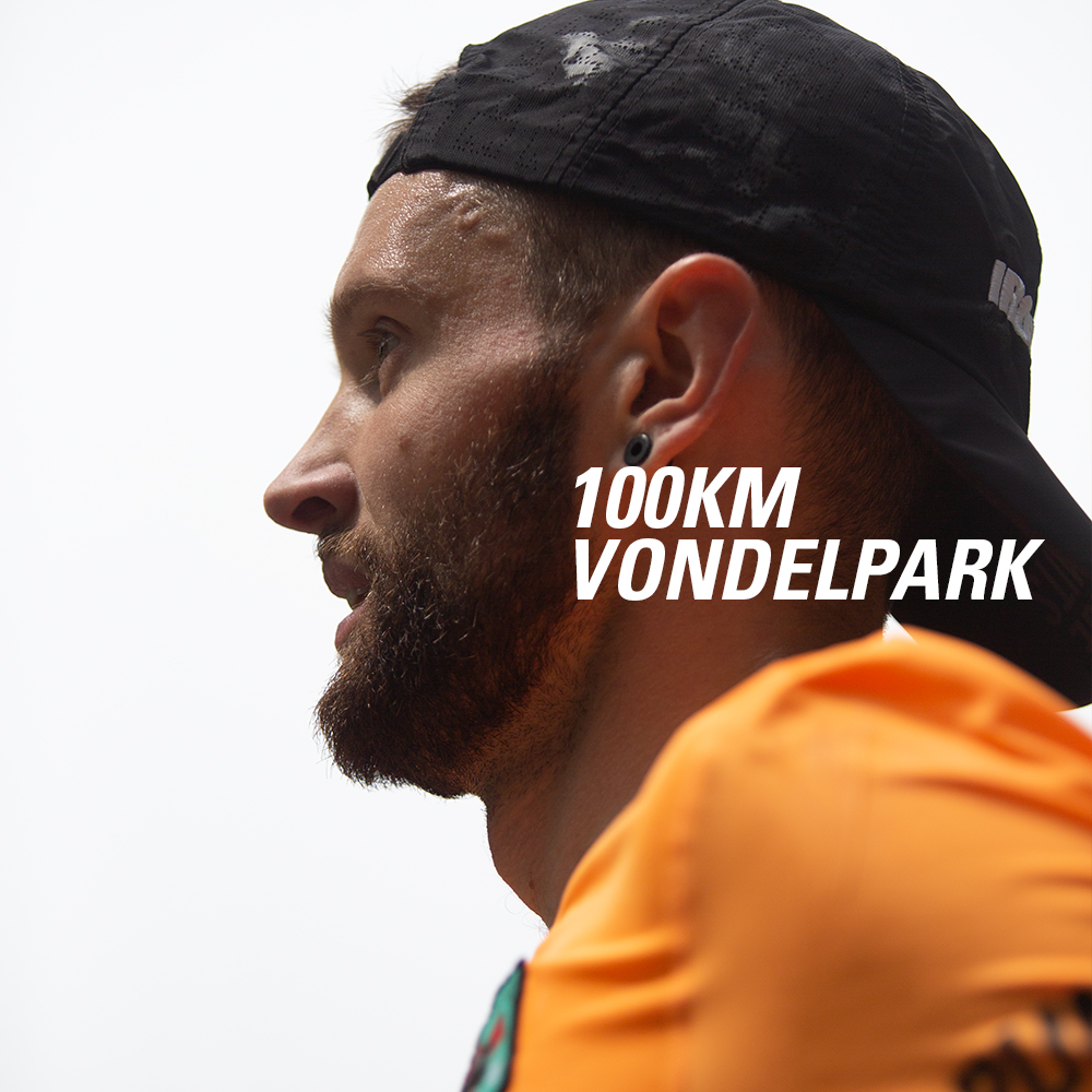 Jake Catterall 100km in het Vondelpark