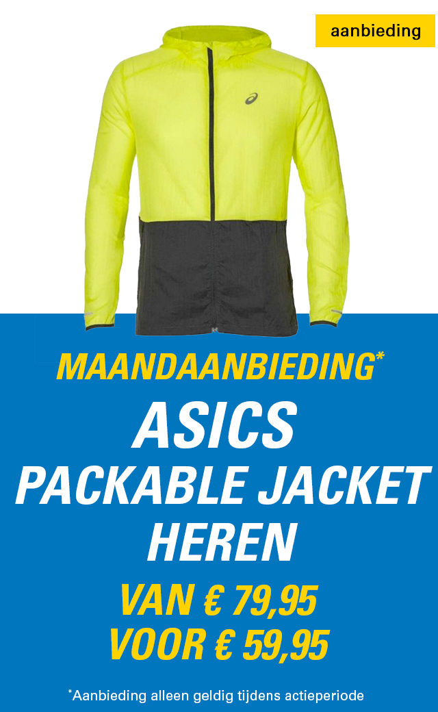 Maandaanbieding ASICS Packable Jacket heren