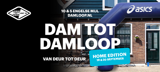 Dam tot Damloop Home Edition bij Run2Day